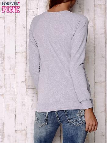 Czarno-szara bluza z nadrukiem emotikonów                                  zdj.                                  4