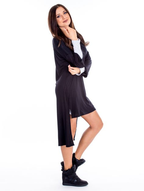 Czarno-szara warstwowa sukienka                              zdj.                              3
