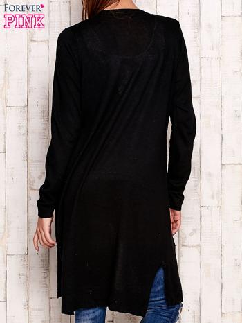 Czarny długi sweter oversize                                  zdj.                                  4