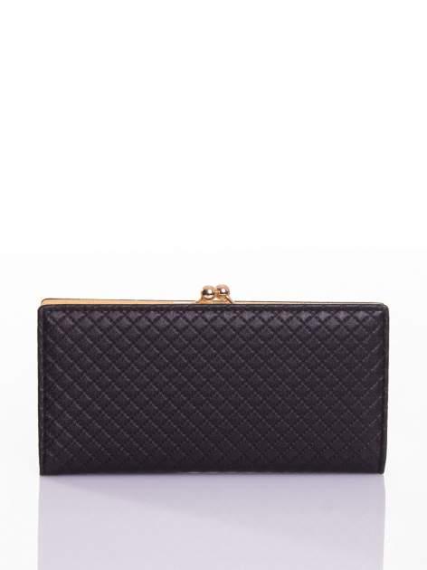 Czarny elegancki portfel na bigiel