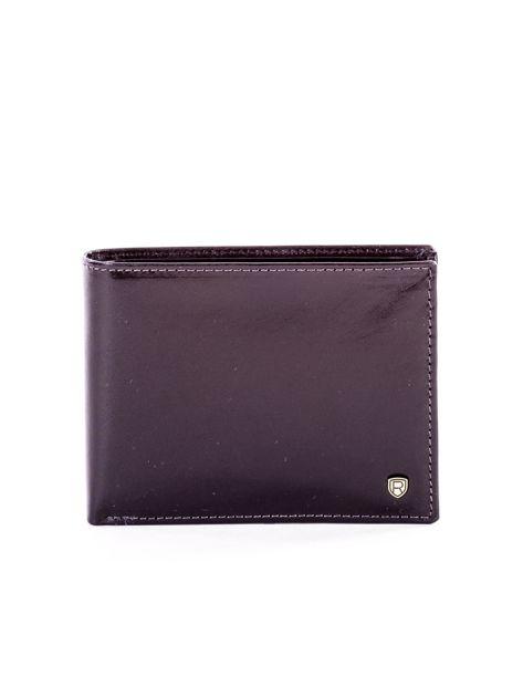 Czarny elegancki skórzany portfel męski                               zdj.                              1