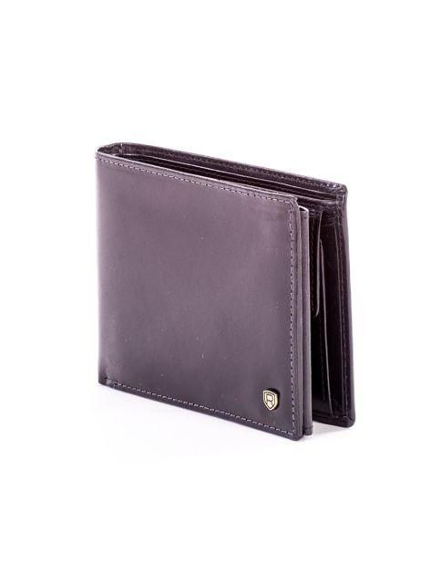 Czarny elegancki skórzany portfel męski                               zdj.                              3