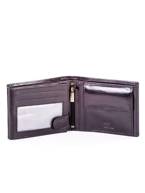 Czarny elegancki skórzany portfel męski                               zdj.                              4