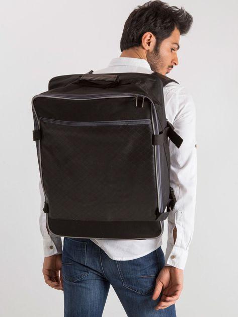 Czarny męski plecak podróżny                              zdj.                              1