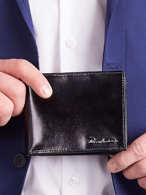 Czarny męski portfel poziomy                              zdj.                              2