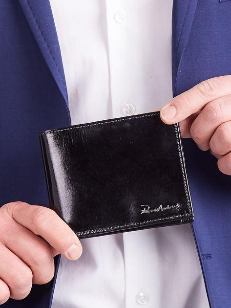 Czarny męski portfel poziomy                              zdj.                              3