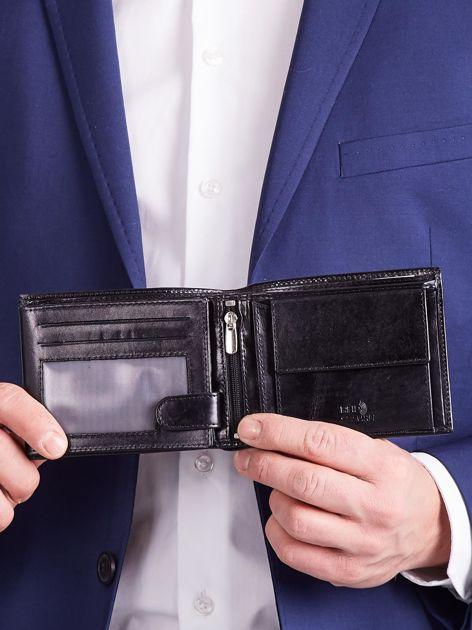 Czarny męski portfel poziomy                              zdj.                              7