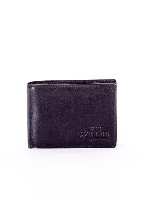 Czarny miękki portfel ze skóry naturalnej dla mężczyzny                              zdj.                              1
