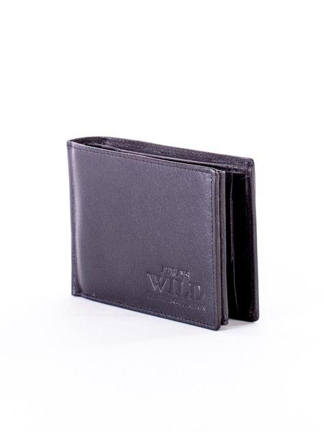 Czarny miękki portfel ze skóry naturalnej dla mężczyzny                              zdj.                              3