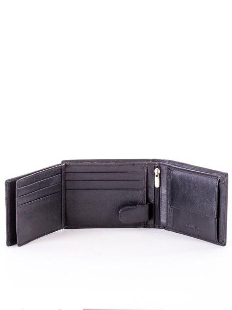 Czarny miękki portfel ze skóry naturalnej dla mężczyzny                              zdj.                              6