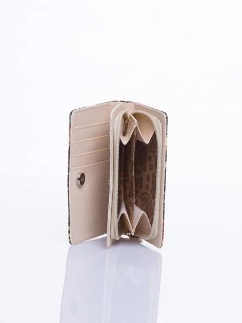 Czarny mini portfel w sówki                                  zdj.                                  2