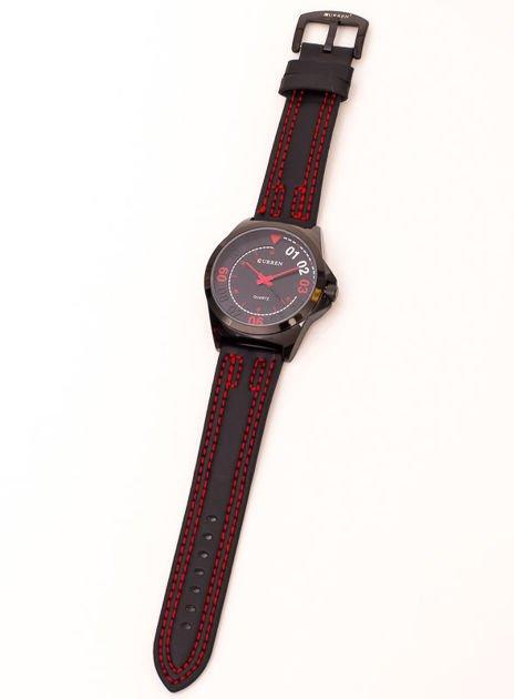 Czarny nowoczesny zegarek męski                               zdj.                              2