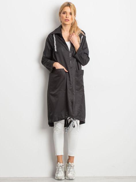 Czarny płaszcz Flatscreen                              zdj.                              4
