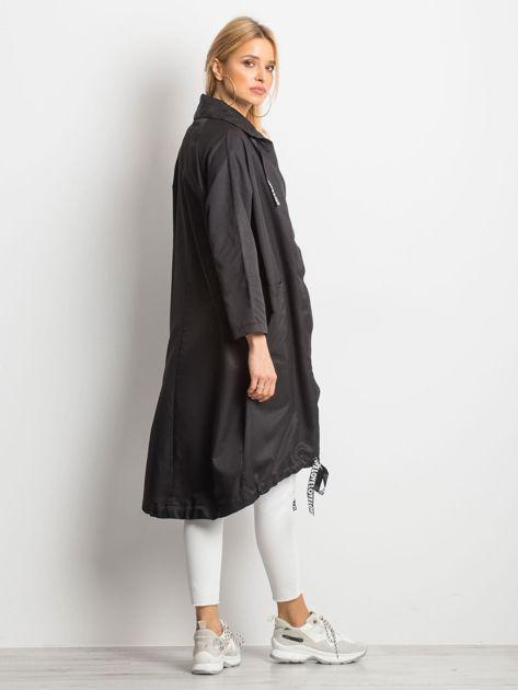 Czarny płaszcz Flatscreen                              zdj.                              2