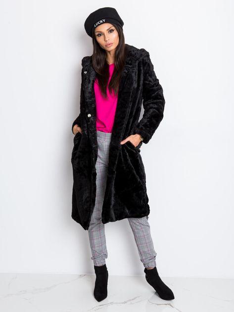 Czarny płaszcz Mallory                              zdj.                              4