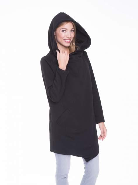 Czarny płaszcz dresowy                                  zdj.                                  5