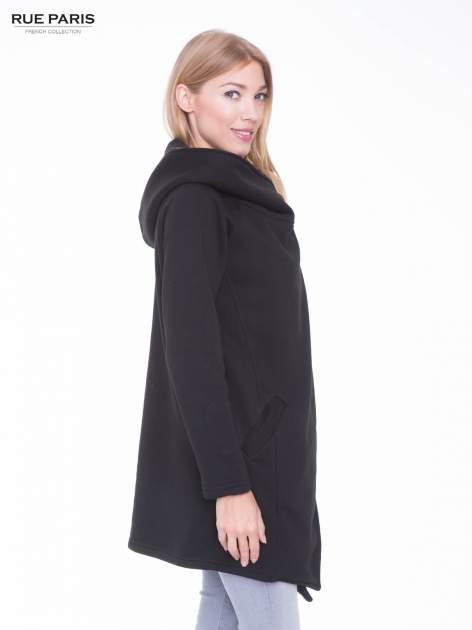 Czarny płaszcz dresowy                                  zdj.                                  2