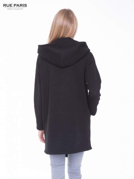 Czarny płaszcz dresowy                                  zdj.                                  3