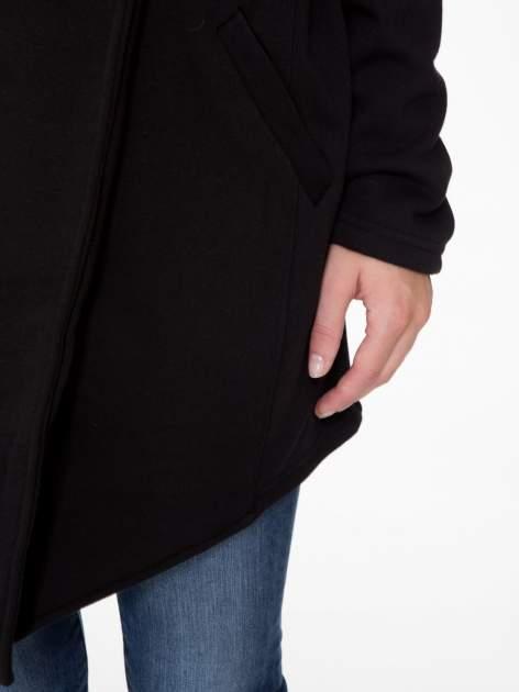 Czarny płaszcz dresowy z kapturem                                  zdj.                                  8