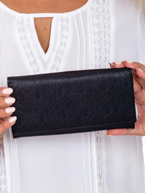 Czarny podłużny portfel damski