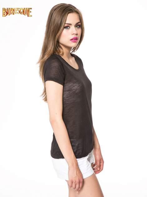 Czarny półtransparentny t-shirt                                  zdj.                                  3