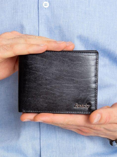 Czarny portfel męski