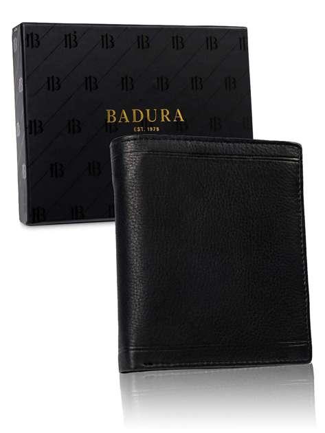 Czarny portfel męski BADURA