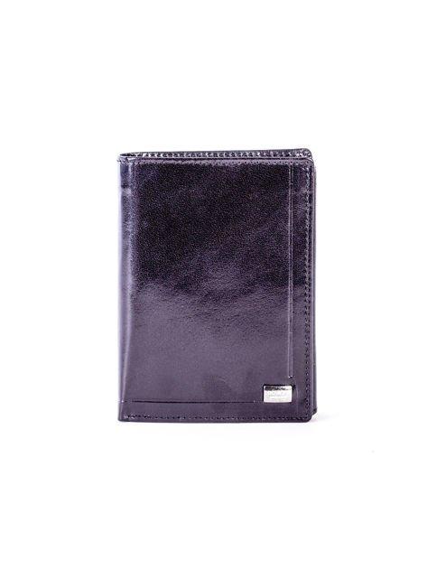 Czarny portfel męski skórzany z tłoczeniem                              zdj.                              1