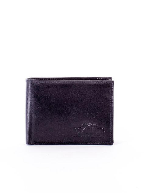 Czarny portfel męski z przetarciami                              zdj.                              1