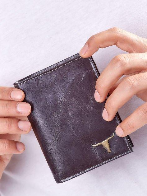 Czarny portfel męski ze skóry naturalnej                              zdj.                              4