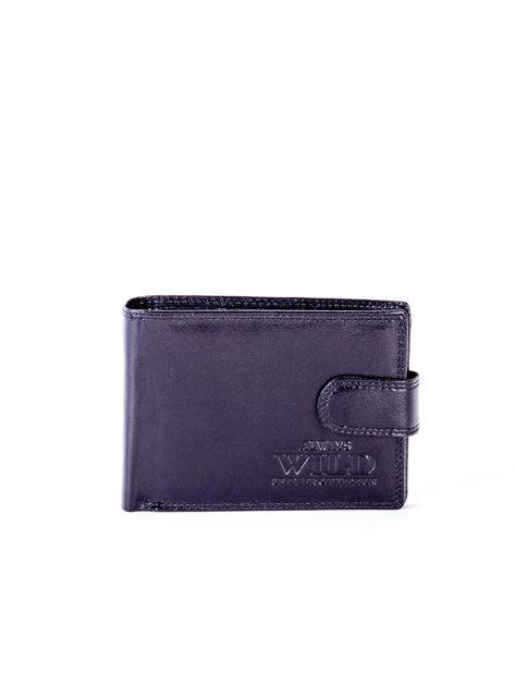 Czarny portfel męski ze skóry naturalnej                               zdj.                              1
