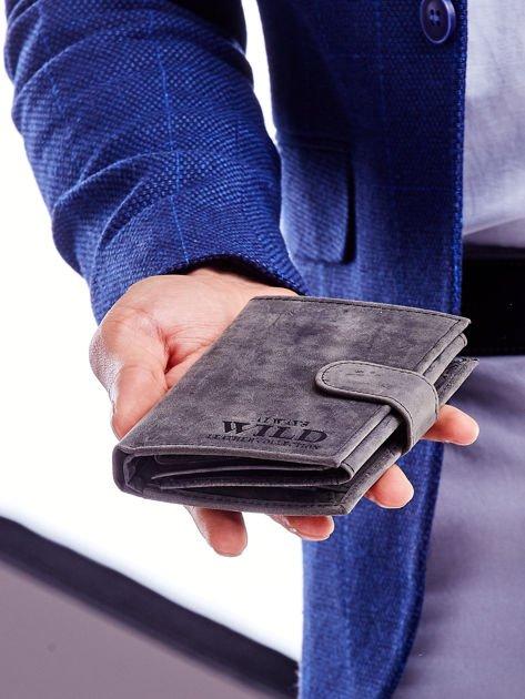 Czarny portfel skórzany dla mężczyzny                               zdj.                              6
