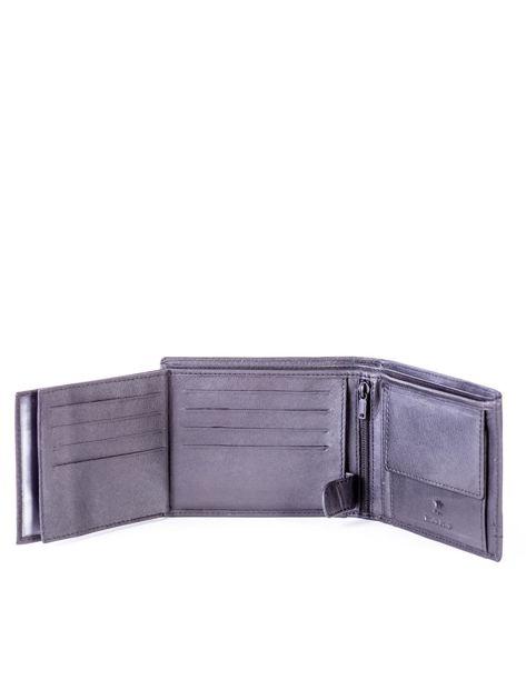 Czarny portfel skórzany z czerwonymi wstawkami                              zdj.                              6