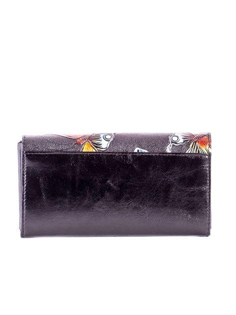 2d1a6489a2e9e Czarny portfel w tłoczone motyle - Akcesoria portfele - sklep eButik.pl