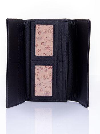 Czarny portfel z motywem skóry aligatora                                   zdj.                                  4