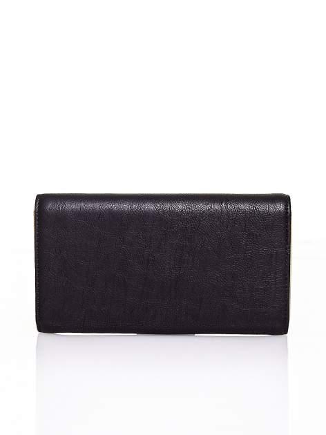 Czarny portfel z zapięciem na magnes                                  zdj.                                  2