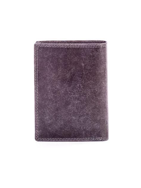 Czarny portfel ze skóry naturalnej                               zdj.                              2