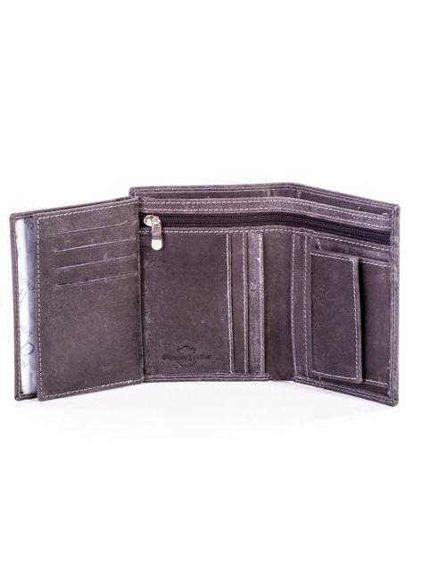 Czarny portfel ze skóry naturalnej                               zdj.                              6