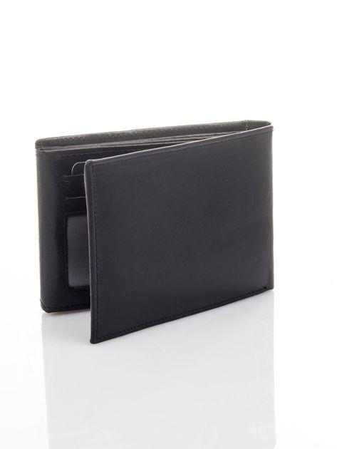 Czarny poziomy portfel męski skórzany                              zdj.                              4