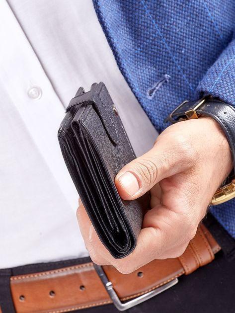 Czarny rozkładany portfel ze skóry                              zdj.                              10