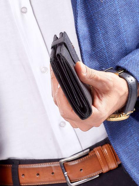 Czarny rozkładany portfel ze skóry                              zdj.                              12