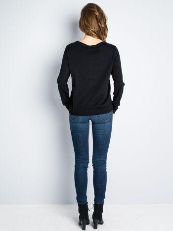 Czarny rozpinany sweter z bawełny                                  zdj.                                  6