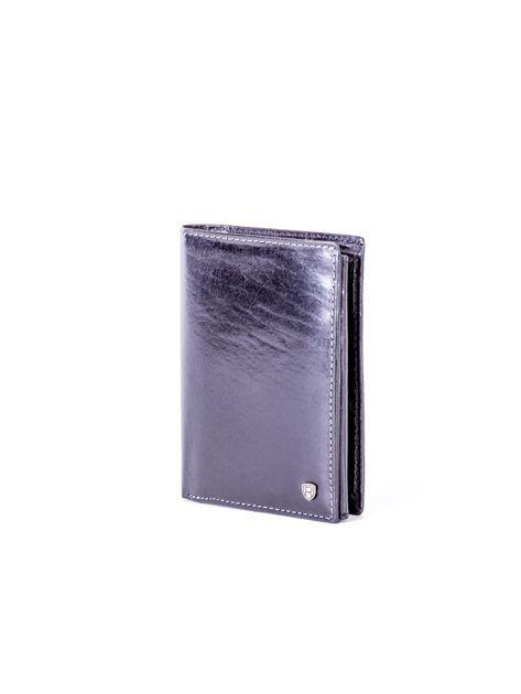 Czarny skórzany portfel                               zdj.                              3