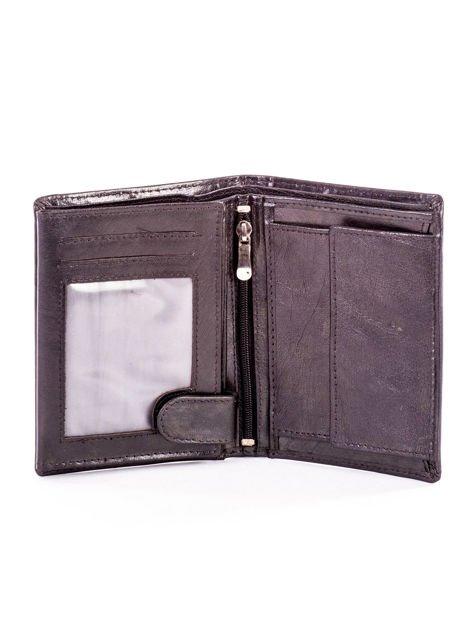 Czarny skórzany portfel dla mężczyzny z tłoczeniem                              zdj.                              4