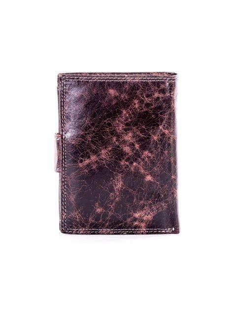 Czarny skórzany portfel dla mężczyzny z zapięciem                              zdj.                              2