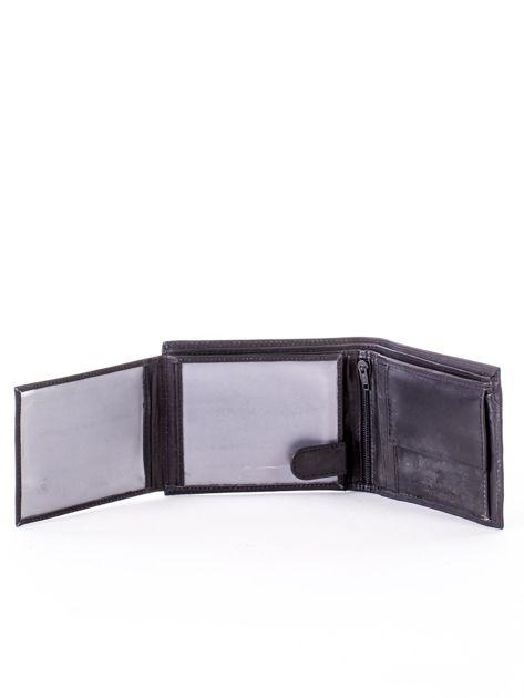 Czarny skórzany portfel z okrągłym tłoczeniem                              zdj.                              5