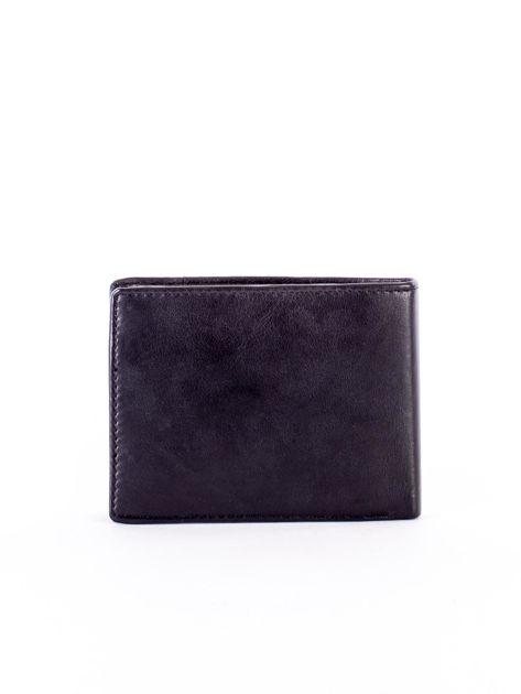 Czarny skórzany portfel z rozcięciem                              zdj.                              2