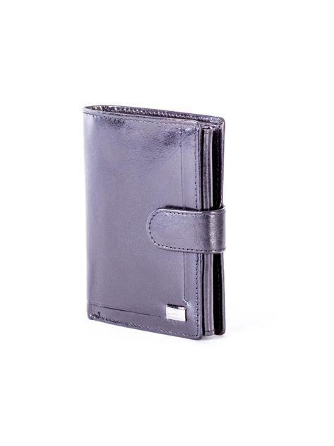 Czarny skórzany portfel z tłoczeniami                              zdj.                              3