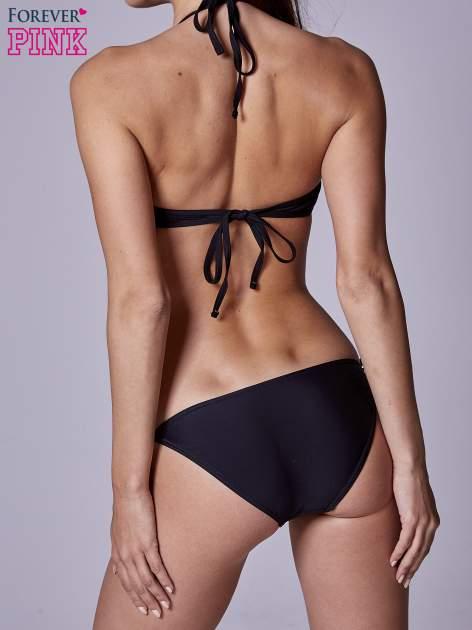 Czarny stanik od bikini wiązany na szyi                                  zdj.                                  3