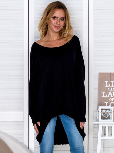 Czarny sweter oversize                                   zdj.                                  1